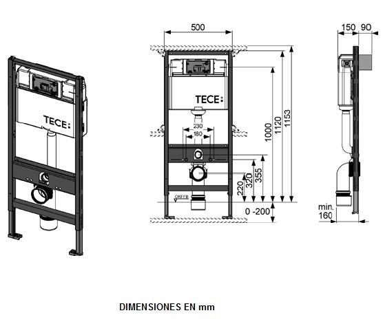 Комплект TECEbase (модуль+панель змиву TECEbase біла+кріплення) - 1