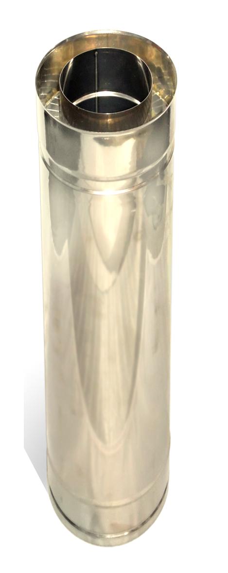 Димохідна труба нержавійка з теплоізоляцією в нержавійці  L = довжина :1м, Сталь :0,8мм - 1